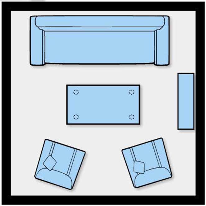 como dispor moveis em uma sala pequena sem televisao