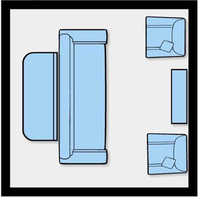 como dispor moveis em uma sala pequena integrada