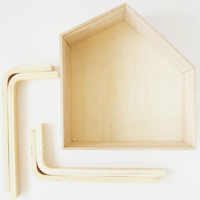 materiais para DIY floreira ombre em formato de casinha