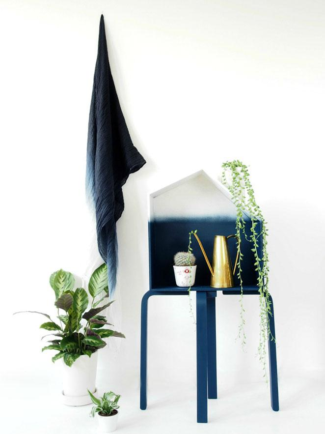 DIY floreira ombre em formato de casinha