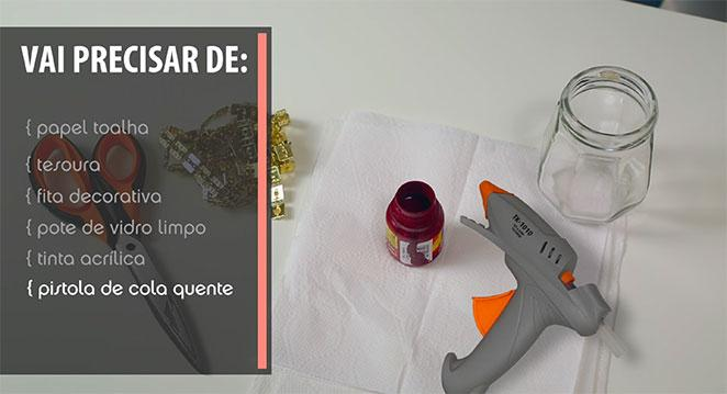 materiais para diy porta-pinceis de maquiagem