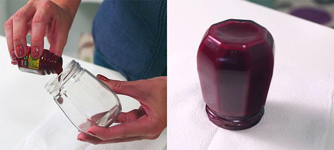 como fazer a pintura do seu diy porta-pinceis de maquiagem