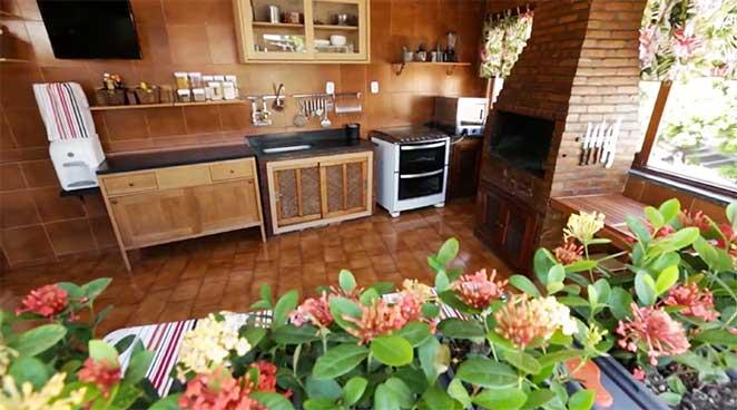 decoracao de terraco com cozinha