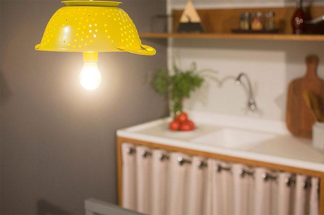 luminaria de escorredor de macarrao