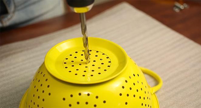 como fazer furo para instalacao de luminaria de escorredor de macarrao