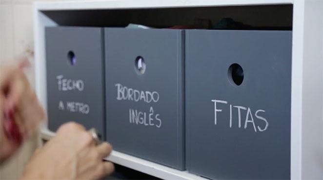 caixa organizadora para atelie de costura