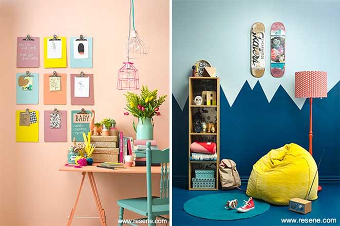 parede de casas coloridas