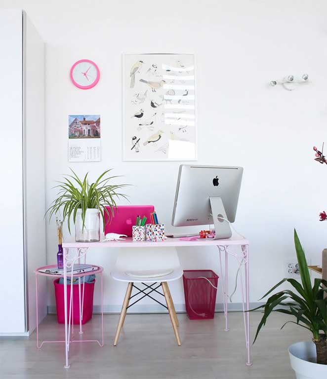 decoracao com branco para escritorio