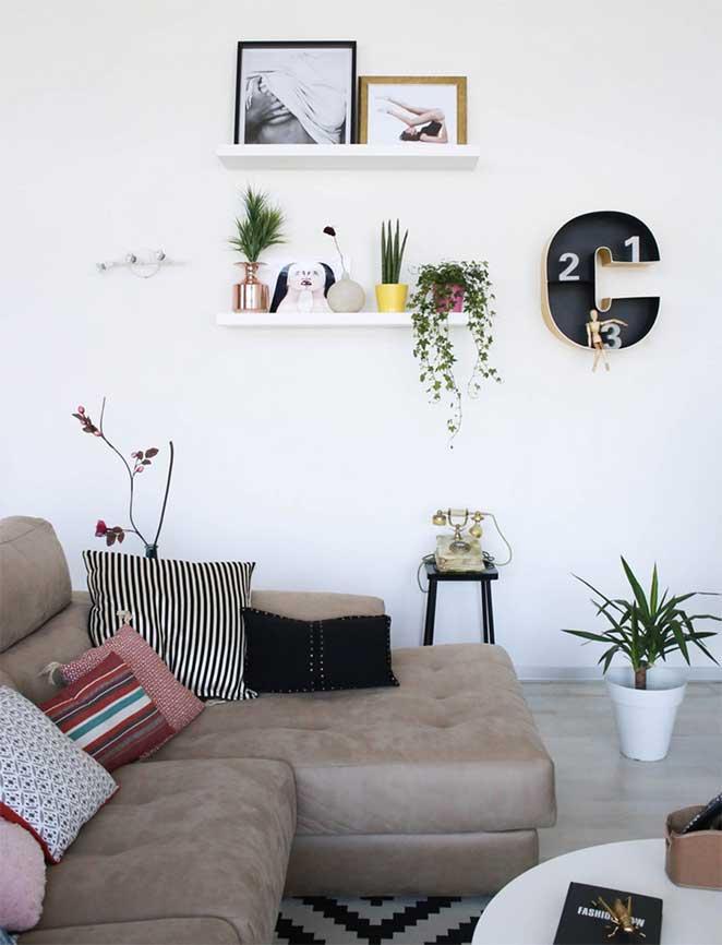 decoracao com branco para sala de estar
