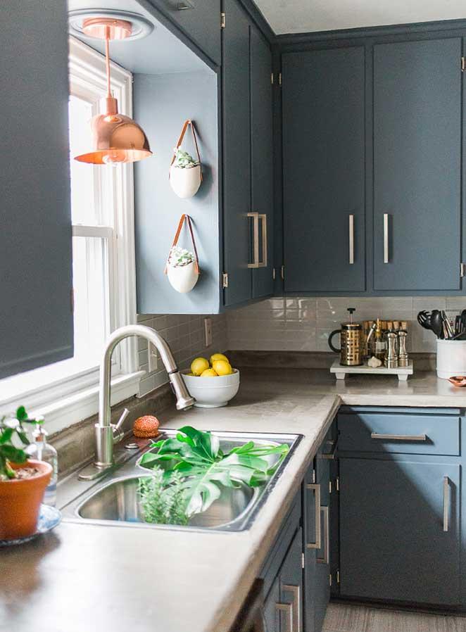 decoracao com plantas para cozinha