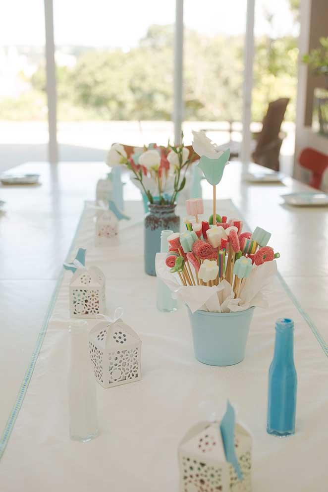 decoracao de festa centro de mesa