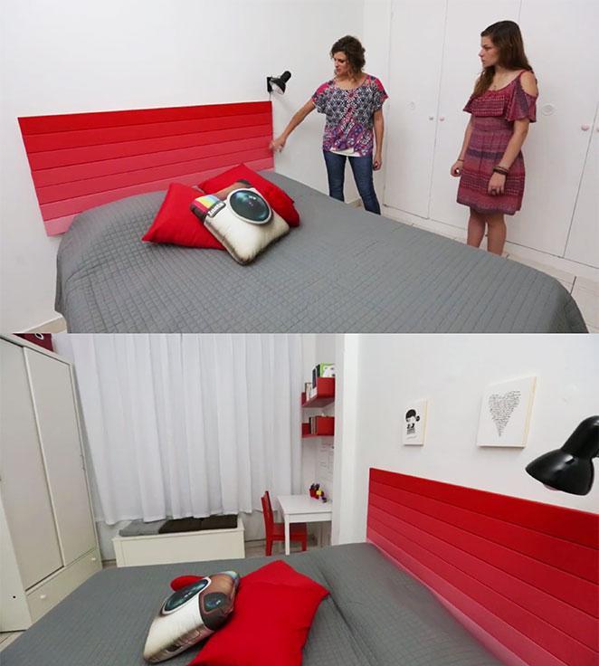 cama e cabeceira na decoracao para quarto familiar