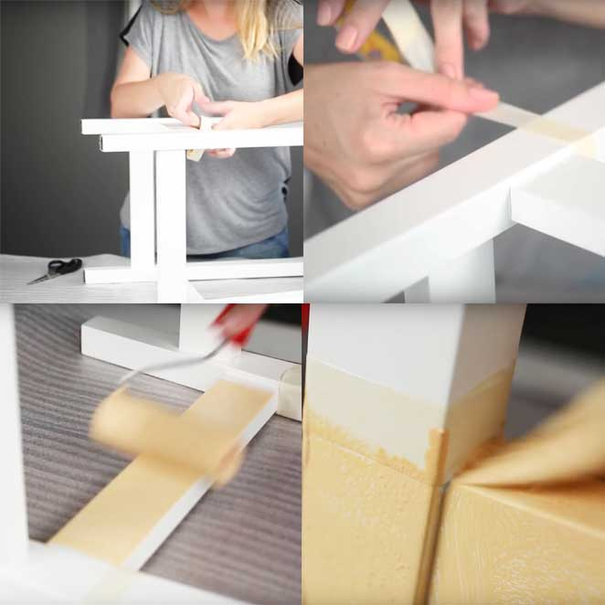 como pintar banco de madeira para fazer uma estante de bancos de madeira