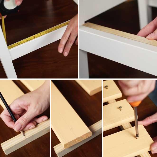 passo a passo estante de bancos de madeira como montar a prateleira