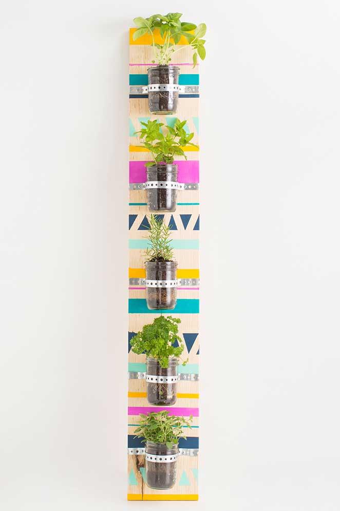 diy jardim vertical para apartamento alugado