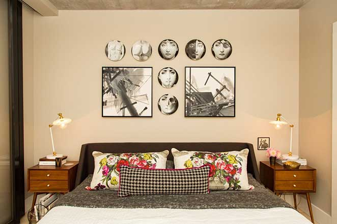loft decorado com quarto
