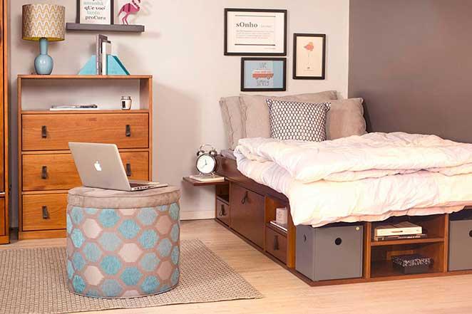 camas com nichos para pequenos espaços