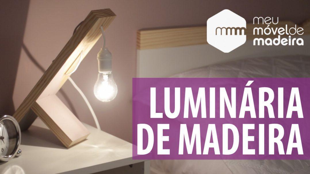 como fazer uma luminaria de mesa