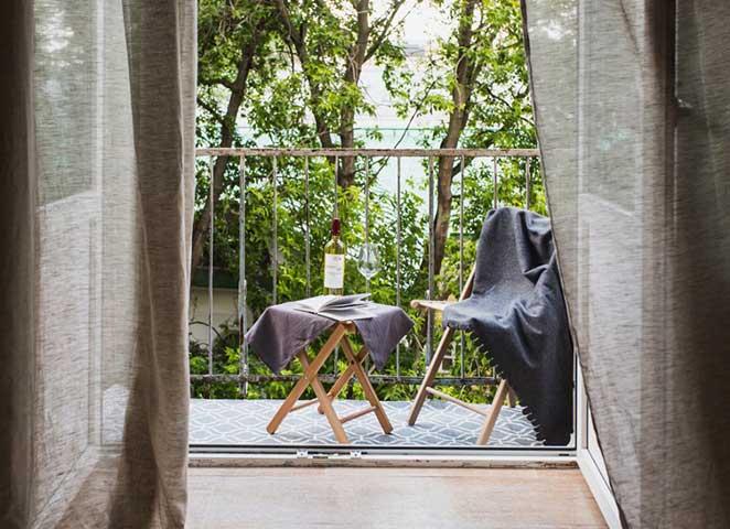 apartamento pequeno varanda pequena