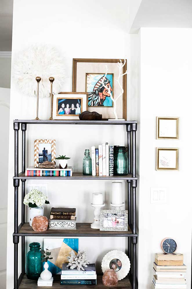 decoracao-simples-para-quitinete-estante