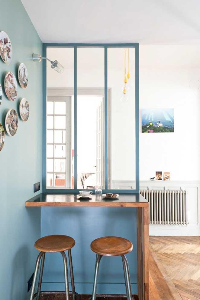 pinturas diferentes para paredes da cozinha e sala de estar