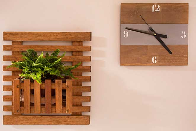 relogio de parede DIY