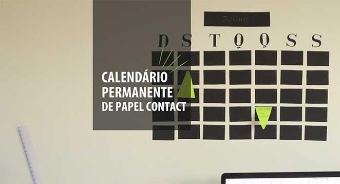 calendario permanente com papel contact