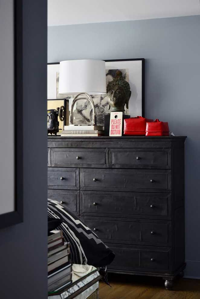 decoracao cinza e vermelho