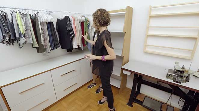 Organização para atelier de costura