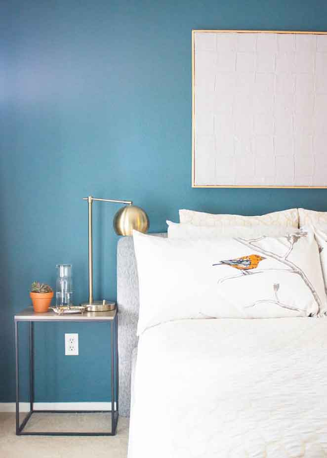 azul na decoracao