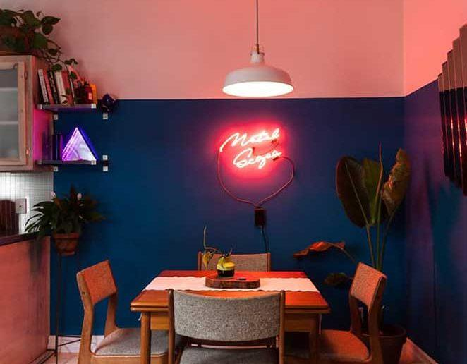 decoracao com neon