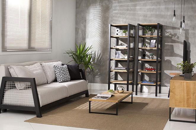 sala-de-estar-industrial-sofa-cinza-urbano