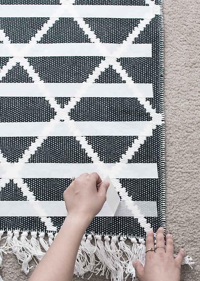 como tornar seu tapete antiderrapante