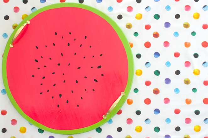diy bandeja de melancia