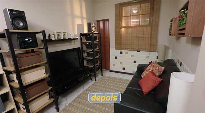 Sala de estar, jantar e home office integrados