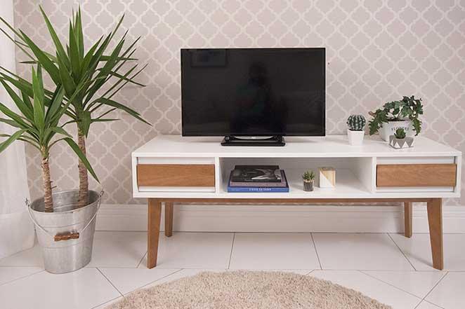 Rack Pra Sala Pequena ~ Sala de estar pequena o lado da televisão