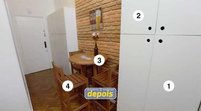 sala de jantar e home integrados
