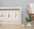 como fazer um calendario permanente