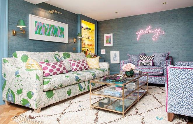 decoracao de apartamento colorido