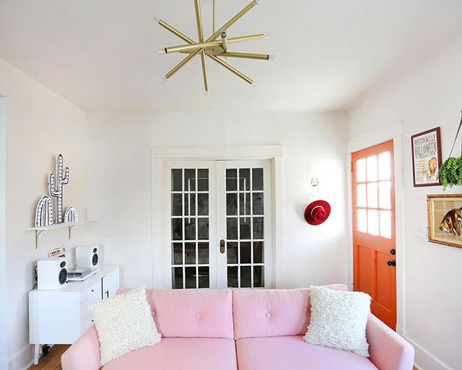 decoracao rosa