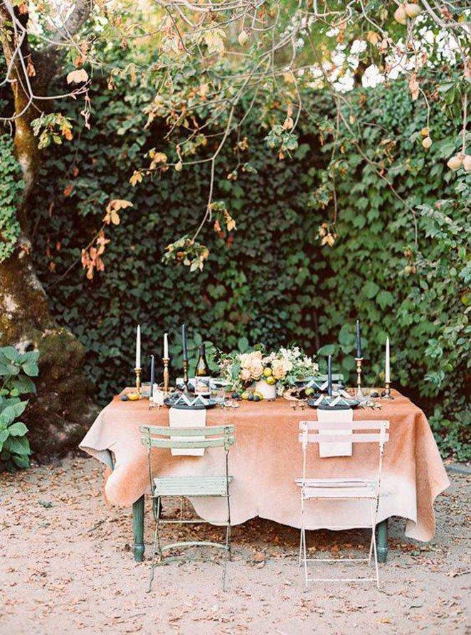 mesas de jantar decoradas