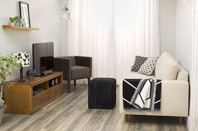 Uma Sala Pequena Decorada ~ Montamos uma sala de estar pequena decorada para você se inspirar na