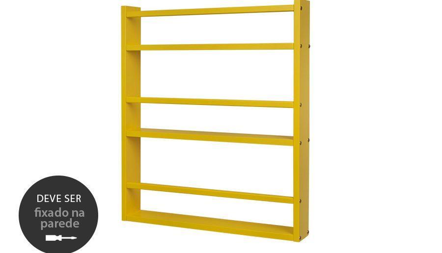Estante de parede Legno grande - Amarelo canário