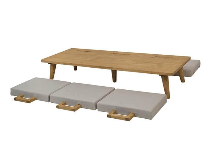 Sofá mesa Hoyo modo Mesa