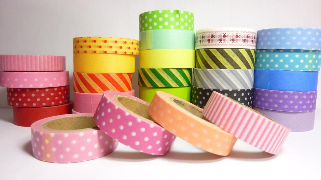 decorando portas: washi tapes