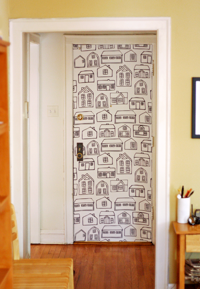 decorando portas: porta estampada
