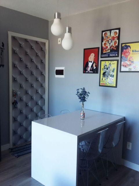 decorando portas: porta estampada capitone