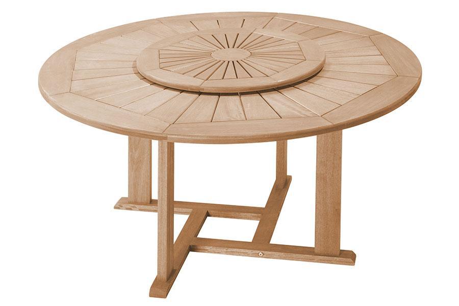 Mesa redonda com tampo giratório fortaleza