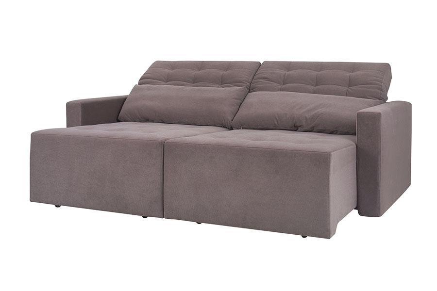 sofá retrátil 2 lugares bem estar