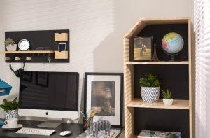 home office com a estante rio